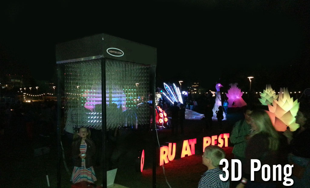 3D Pong played in LED cube.